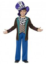 Mad Hatter Alice in wonderland MED kids child boys girls Movie BOOK WEEK COSTUME