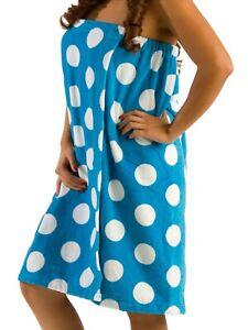 100% Terry Cotton Polka Spa Wrap Towel For Women