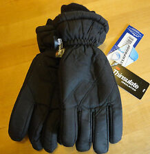 Boys or Girls Ski Gloves Black Waterproof Thinsulate sizes 8 9 10 11 12