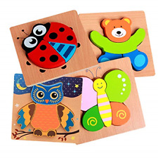 Wooden Jigsaw Puzzles for Toddlers 1 2 3 Years Old, Early Educational Toys Gift