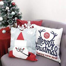 3pk Pillow Set Christmas Santa Clause Snowflake Antler Merry Christmas Throw Cus