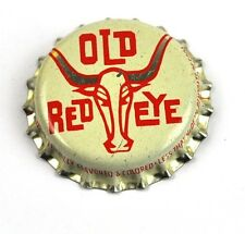 Vintage Old Rosso Eye Soda Tappo Bottiglia USA 1950er caps Bullo grande Corni