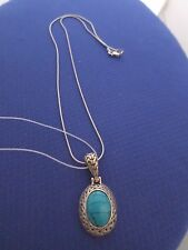 Turquoise Necklace set , Greco design in solid 925 Sterling Silver