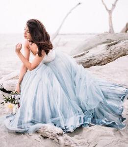 Blue Beach Dress Wedding Dresses For Sale Ebay