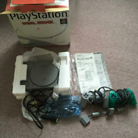 PS1 Playstation 1 Dual Shock SCPH-7000 Console USED 2 Controller Japan FedEx [K]