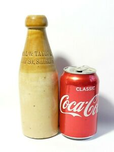 19thC Bell & Taylor North & South Shields Stoneware Ginger Beer Stout Bottle a/f