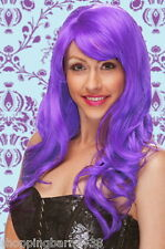 Punk Girl with Purple Locks - Adult Costume Hair Wig - Punk