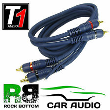 PC1-250 Car Stereo Radio Triple Sheilded 5M Amplifier Amp RCA Phono Cable Lead