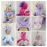 UNICORN ALL IN ONE / JUMPSUIT / ROMPER CLOTHES FITS 43CM BABY ANNABELL DOLL
