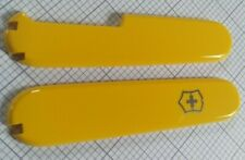 Genuine Cellidor Swiss Army Victorinox Yellow replacement spare 91mm+ scales