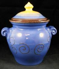 Tabletops Unlimited AMBROSIA KIWI (BLUE) Sugar Canister no signs of use