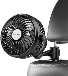 3 Speed USB Fan Car Back Seat Headrest Air Cooling Fan for SUV Truck Vehicle
