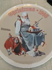 New ListingNorman Rockwell Christmas Plate-1998 with certification