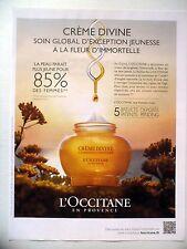 PUBLICITE-ADVERTISING :  L'OCCITANE Crème Divine  2015 Cosmétique,Provence