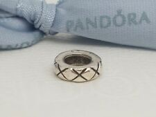 Authentic Pandora Sterling Silver Retired Criss Cross Spacer 790177