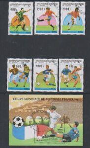 Kambodscha - 1997, World Cup Fußball Set & Blatt - Cto - Sg 1613/18, MS1619 (C)