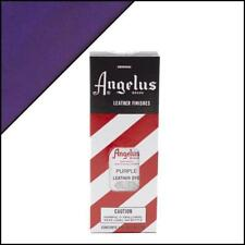 Angelus PURPLE Leather Dye 3 oz. with Applicator for Shoes Boots Bags NEW