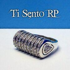 Ti Sento RP Designer Sterling CZ Unique Ring
