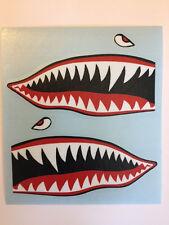 Flying Tiger Shark Die-Cut Car Bumper Sticker Decal Vinyl Warhawk Teeth Jet A-10