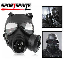 Airsoft Paintball Gas Mask Anti-Fog Turbo Fan System Protective Full Face Cover