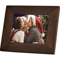 Polaroid PDF-800CD 8 Digital Photo Frame Candlenut Distressed Wood Frame