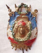 Insigne DE CONSCRIT 1880 MARIANNE REPUBLIQUE FRANCAISE ORIGINAL FRANCE MILITAIRE