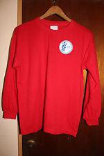 Guam Football Association Soccer Men's Red Long Sleeve Shirt Size Medium