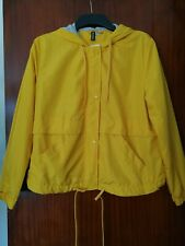 New H&M Hooded Jacket Bright Yellow Size M