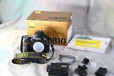 Nikon D810 36.3 MP Digital SLR Camera - Black Body Only - Shutter 46,200 - A818