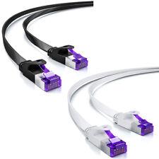CAT 7 Patchkabel Netzwerkkabel Flachkabel Ethernet LAN Flach Kabel 0,25m - 30m