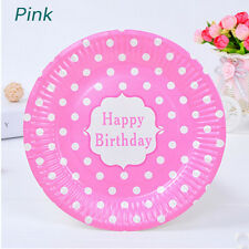 1 Set Disposable Paper Plates Party Decoration Cake Kids Birthday Party Supplies