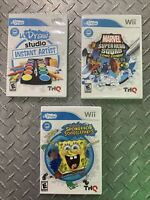 U Drawn Nintendo Wii Lot Of 3 Games, Spongebob, Marvel, Studio