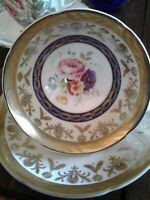 Royal Grafton Fine Bone China Made In England  Cup & Saucer FLORAL ~ Rare one