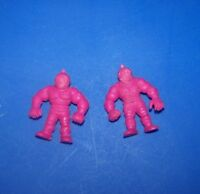 M.U.S.C.L.E Men : vintage Mattel : Purple Color figure lot of 2