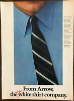 Vintage 1968 Arrow Shirt Print Ad The Colorful White Shirt Company