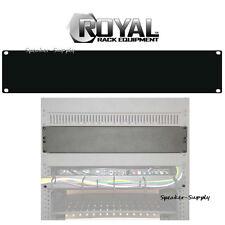 Royal Racks 2U Blank Rack Mountable Plate Panel Cover AV Rack Black ROY1227