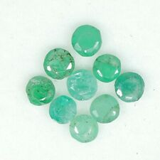 Natural Emerald Round Cut Lot 9 PCS 3 mm Untreated 1.05 Cts Loose Gemstone A13