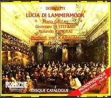 Donizetti. Lucia Di Lammermoor CD Karajan (Maria Callas/Di Stefano) 1955