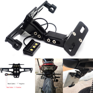 Motorcycle CNC License Plate Holder Bracket LED Rear Light Fender Accessories