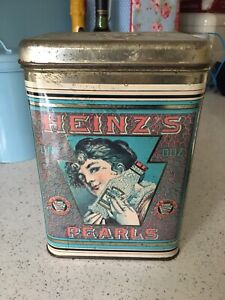 Heinz Pearls Tin Vintage Collectible Food Advertising Retro Decor Heinz's
