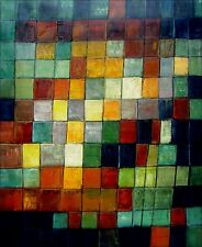 Paul Klee Ancient Sound Repro, Hand Painted Oil Painting 24x30in