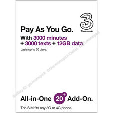 3 Three UK Europe Asia USA World 71 country 30Days Prepaid Roaming PAYG Data SIM