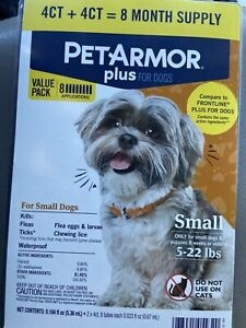 Pet Armor Plus Flea and Tick Prevention For small  Dogs 5-22 lbs Treatments