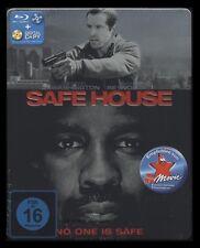 BLU-RAY SAFE HOUSE - STEELBOOK - DENZEL WASHINGTON + RYAN REYNOLDS *** NEU ***