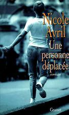 Livre une personne déplacée Nicole Avril  book