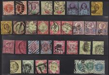 Uk-Gb 1887 Queen Victoria Set W/ Six Shilling Value A Set Of 33 Many Diff. Color