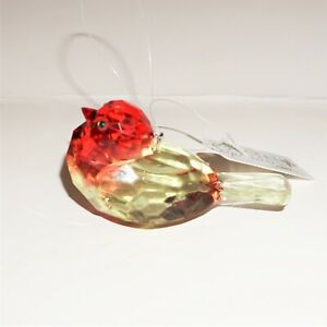 Ganz Crystal Expressions Bird TwoToned Yellow Red Small Hanging Sun Catcher NEW