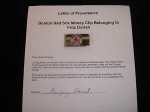 Harry Fritz Dorish Boston Red Sox Personally Owned Money Clip w/Family LOA