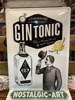 GIN TONIC   Quality Tin Metal Wall Sign