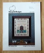 Sheepish Designs Cross Stitch Sampler Pattern 3 The Garden Path Antique Style